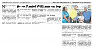 9-y-o Daniel Williams on top