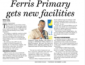Ferris Primary gets new facilities
