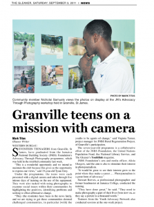 Granville teens on a mission with camera
