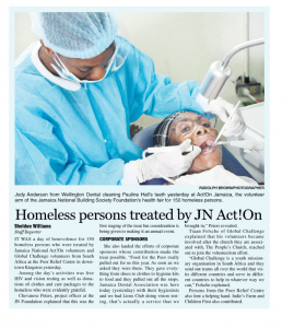 Homeless persons treated by JN Act!On