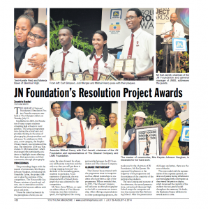 JN Foundation's Resolution Project Awards