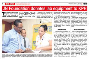 JN Foundation donates lab equipment to KPH