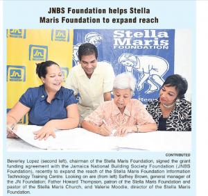 JNBS Foundation helps Stella Maris Foundation