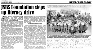JNBS Foundation steps up literacy drive