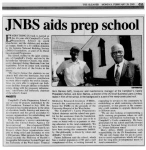 JNBS aids prep school