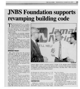 JNBS Foundation supports revamping building code