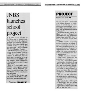 JNBS launches school project