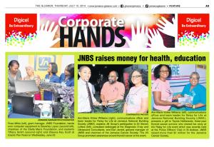 JNBS raises money for health, education