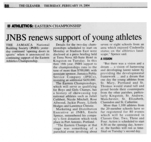 JNBS renews support of young athletes