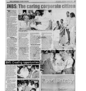 JNBS:The caring corporate citizen 2005