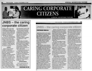 JNBS…the caring corporate citizens