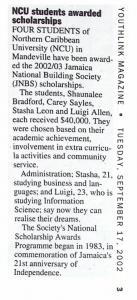 NCU students awarded scholarships – YouthLink Magazine