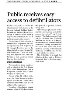 Public receives easy access to defibrillators