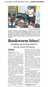Reading series launched at Parry Town Primary
