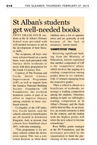 St Alban's students gets well needed books