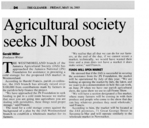 Agricultural society seeks JN boost