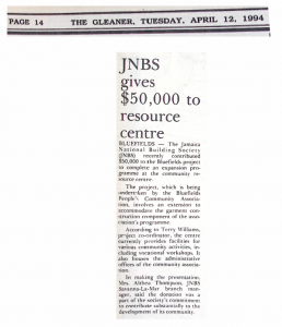 JNBS gives $50,000 to resource centre