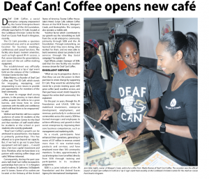 Deaf Can! Coffee opens new café