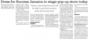 Dress for Success Jamaica to stage pop-up store today