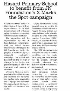 Hazard Primary School to benefit from JN Foundation's X Marks the Spot campaign