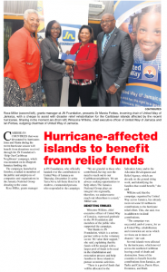 Hurricane-affected islands to benefit from relief funds