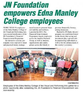JN Foundation empowers Edna Manley College employees
