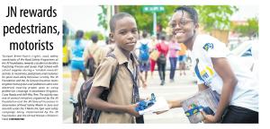 JN rewards pedestrians, motorists