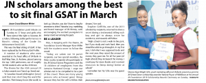 JN scholars among the best to sit final GSAT in March
