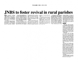 JNBS to foster revival in rural parishes