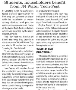 Students, householders benefit from JN Water-Tech Fest