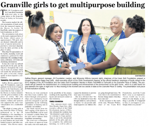 Granville girls to get multipurpose building