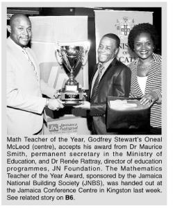 Mathematics Teacher of the Year Award
