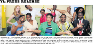 Members of the TEACH Caribbean team and the JN Foundation