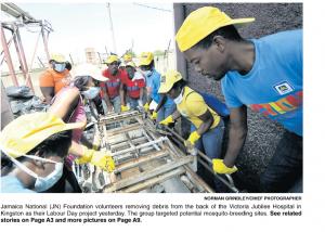 Jamaica National (JN) Foundation volunteers
